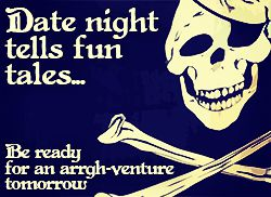 Pirate invite crossbones