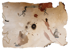 Pirate treasure map Template