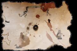 Pirate treasure map Template