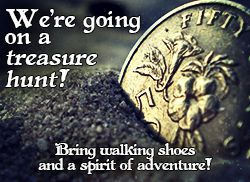 Treasure hunt date night invite