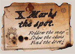 X marks the spot invite