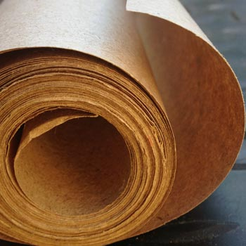 Brown paper to wrap the food