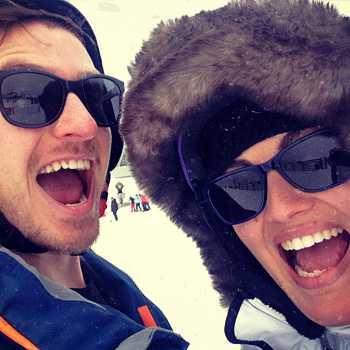 Elliott and Amanda at the snow
