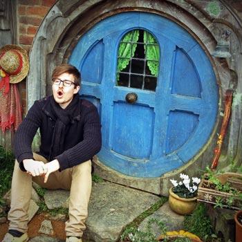 Us at Hobbiton (New Zealand)