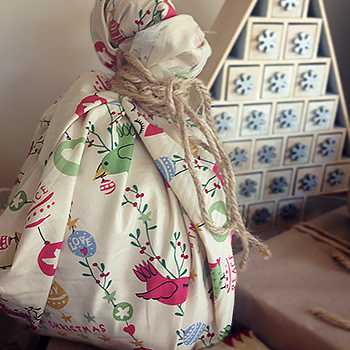 Fabric Gift Wrapped Present