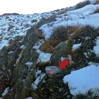 Geocaching on Mt Feathertop