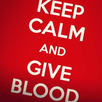 Keep calm and give blood slogan