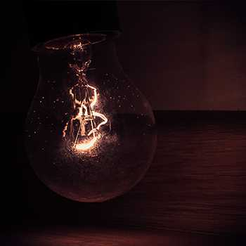 Old school light bulb