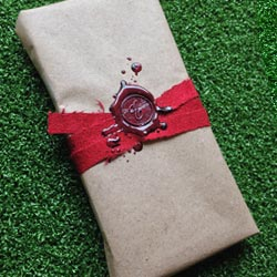 Paper present with wax seal