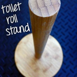 Wooden toilet roll stand