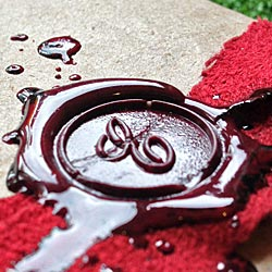 Wax seal on a present