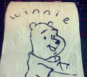 Winnie the Pooh on toilet paper